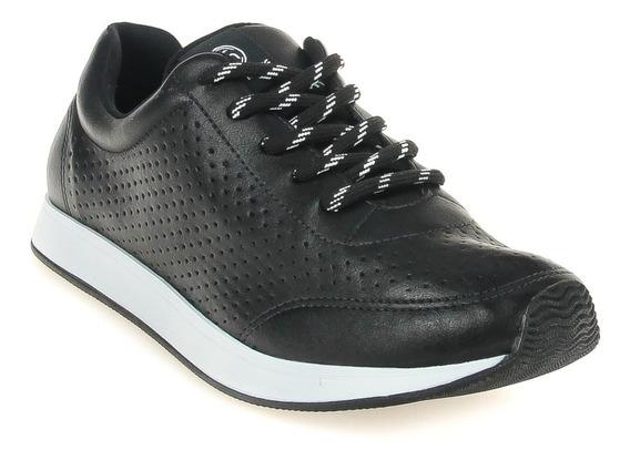 Tenis Jogging Casual Via Marte Feminino 19-11951 Preto