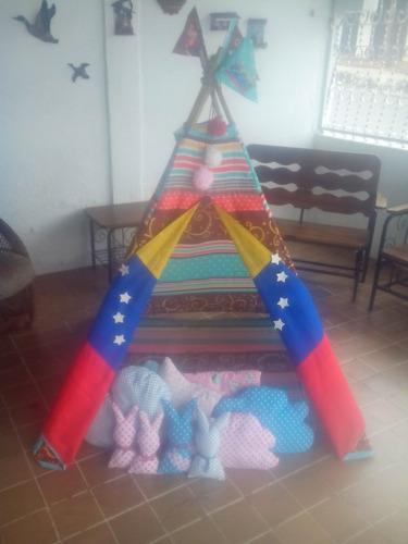 Imagen 1 de 5 de Tipi Tepee Teepee Tienda Carpa India Para Niñas Y Niños