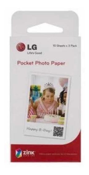 20 Folhas Fotográfica Zink Lg Para Lg Pocket Photo