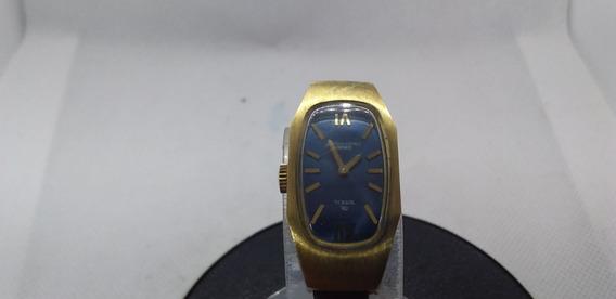 Relógio De Pulso Feminino Breil Okay A Corda Plâque De Ouro