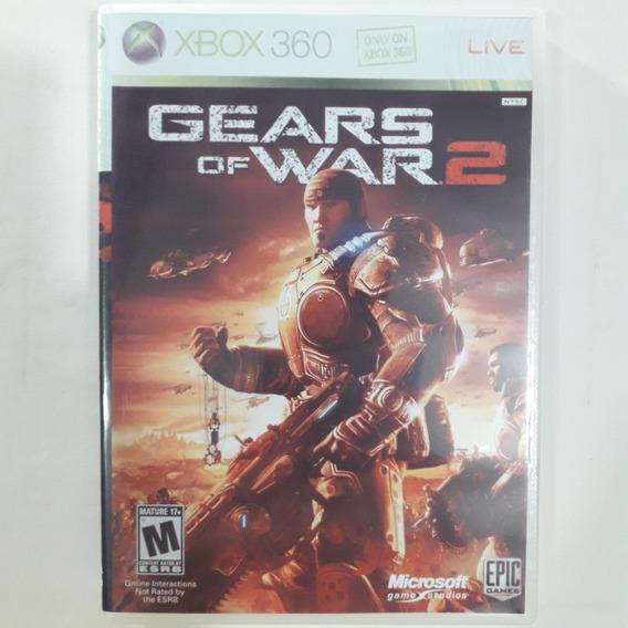 Xbox 360 - Gears Of War 2 - Original Usa/ntsc - Mídia Física - Capa Reimpressa - Sem Manual