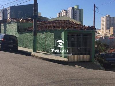 Terreno À Venda, 140 M² Por R$ 410.000 - Vila Príncipe De Gales - Santo André/sp - Te0839