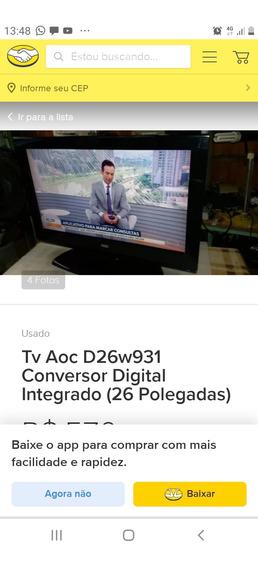 Tv Aoc 26 D26w931 C Conversor Digital.