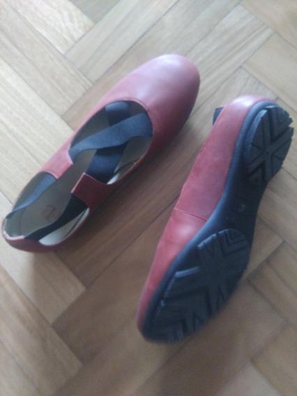 Zapatos Chatitas Con Elástico Impecables Casa Febo Talle 38