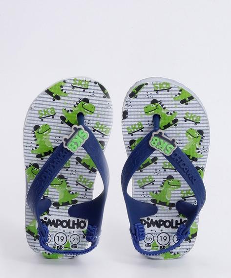 Chinelo Infantil Bebê Estampa Skate Pimpolho