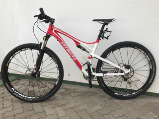 Bike Specialized Quadro Alumínio Com Rodas Carbono.