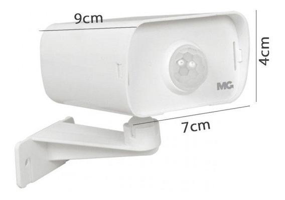 Sensor De Iluminação Tipo Camera Uso Int/ext Margiri Branco
