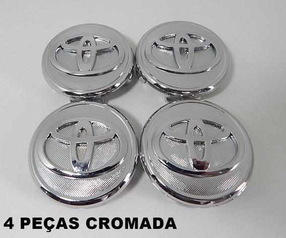 Kit 4 Pçs Calota Tampa Miolo Centro Roda Toyota Corolla 2013