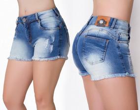 Short Jeans Feminino Kanibus Levanta Bumbum Ref. 18039