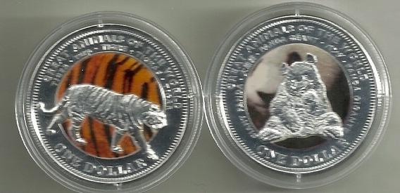 Moneda De Fiji Año 2009 Color Oso Panda Proof En Capsula