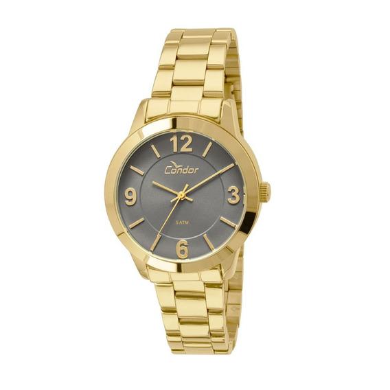 Relógio Condor Feminino Dourado Visor Grafite Co2035k00/4c