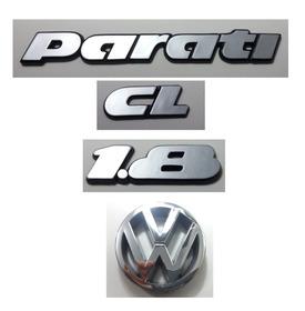 Kit Emblema Volkswagen Parati Cl 1.8 Vw Grade 91 À 97 Brinde
