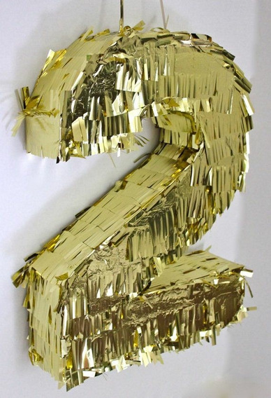 Piñata 2 (numero)dorada