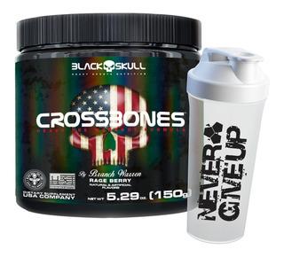 Pré Treino - Crossbones - 30 Doses + Shaker - Black Skull
