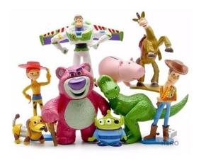Kit Miniaturas C/ 9 Personagens Toy Story 3 Disney Buzz Wood