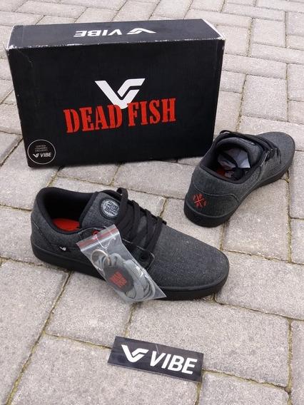 Tênis Vibe Shoes Roots Dead Fish Hardcore Chaveiro Skate