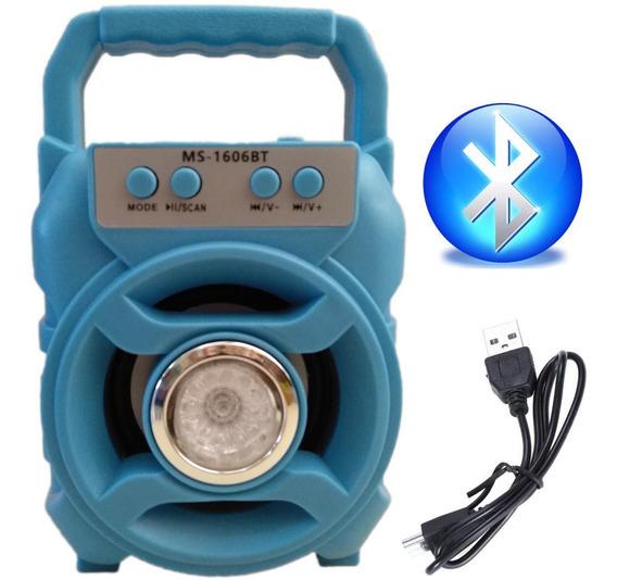 Caixa Caixinha De Som Portátil Bluetooth Mp3 Rádio Ms-1606bt