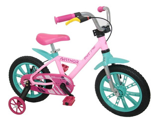 Bicicleta Nathor Aro 14 First Pro - Feminina Rosa Alumínio