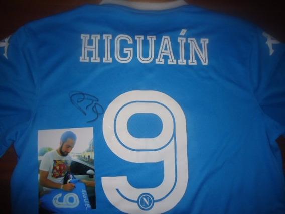 Autografiada! Camiseta Napoles (italia) Kappa #9 Higuain !