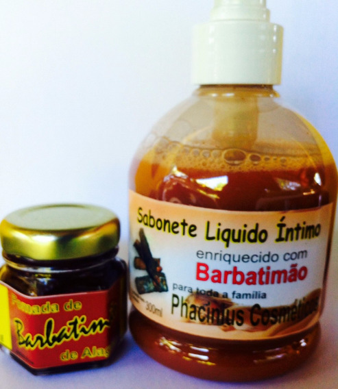 Pomada Barbatimao + Sabonete Líquido 300ml (hpv) Top