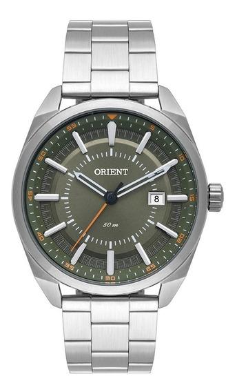 Relógio Orient Masculino Mbss1346 E1sx Verde Aço Analogico