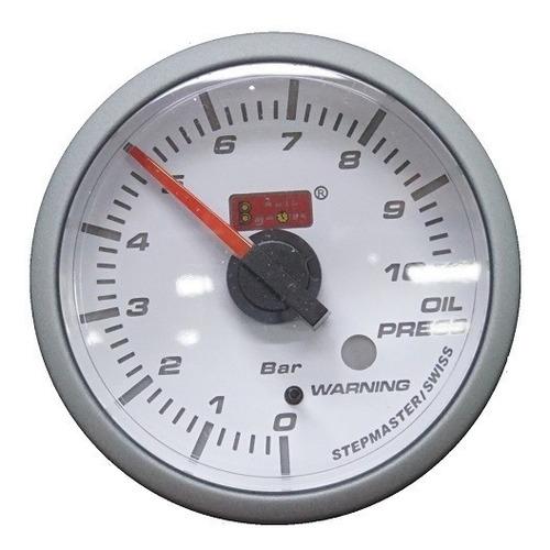 Reloj Presión De Aceite Sm Blanco Autogauge - Biocartuning