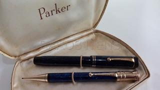 Duo Canetas Tinteiro Lapiseira Parker Duofold Senior Grandes