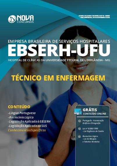Apostila Ebserh Ufu 2020 - Técnico Em Enfermagem