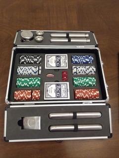 Set De Poker Completo + Portahabanos + Petacas + Accesorios