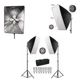 Kit Iluminação Estúdio Softbox 70 Quadruplo E27 110v Ou 220v