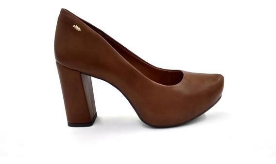 Sapato Scarpin Dakota Salto Napa Castanho 1111. N35 E N36