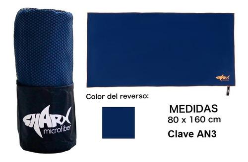 Toalla Microfibra Sharx* 80x160cm Azul Marino Envío Gratis