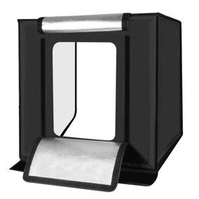 Mini Estúdio Fotográfico Portátil Iluminação De Led 60x60