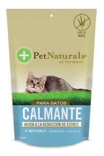 Calmantes Para Gato Pet Naturals A Base De Calostro 21 Pza