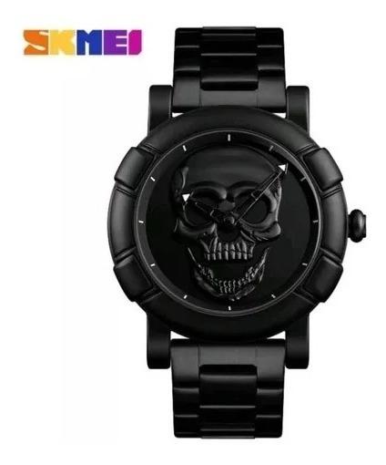 Relógio Skmei 9178 Caveira Crânio 3d Skull Esportivo Origina