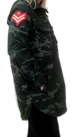 60% Off Sale Camisa Chaqueta Mujer Importada Army Camuflada