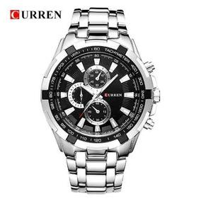 Relógio Masculino Curren De Luxo Pulseira De Aço Inox 8023