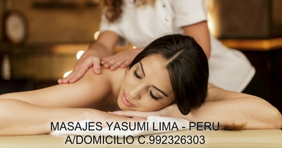 Masajes Yasumi Lima Peru Terapias Antiestress A Domicilio