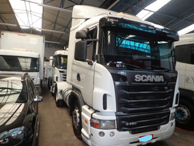 Caminhão Scania G-420 Toco 2011/12 Branca Nova