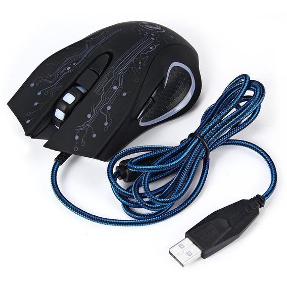 Mouse Gamer Estone X9 Usb Led Óptico 2400 Dpi 6 Botões T56