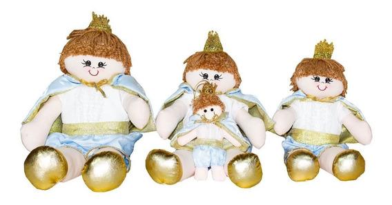 Trio Ursos Decoração Bichinhos Nichos Pelúcia.