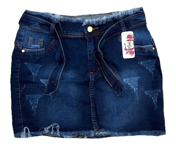 Mini Saia Jeans Plus Size