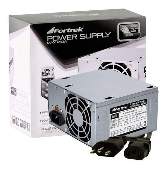 Fonte ATX Fortrek PWS-2003 110V/220V prata