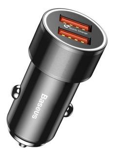 Carregador Turbo Veicular Duas Portas 36w Baseus Premium
