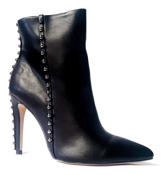 Bota Ankle Boot Feminino Bico Fino Salto Alto Cecconello