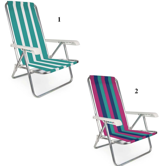 Cadeira Mor Reclinável Alumínio 8 Posições