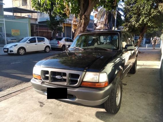 Ford Ranger Motor 2.5 2000 Preta 4 Portas