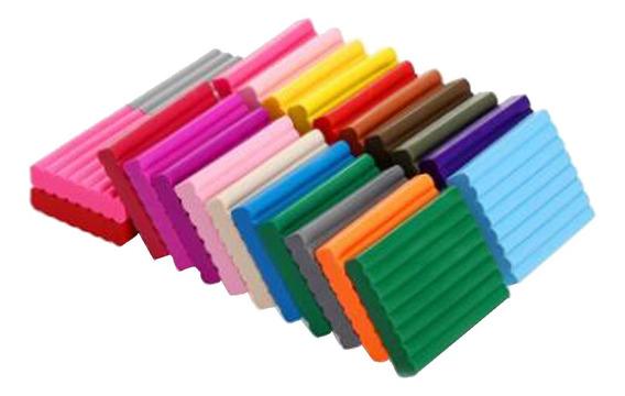 Clay Polymer 24 Cores Forno Assar Diy Argila Colorido Seguro