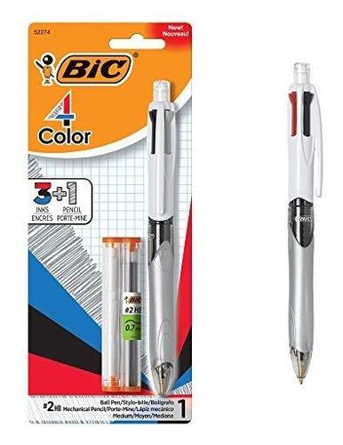 Boligrafo Y Lapiz Bic 4 Colores 3 1, Punto Medio (1,0 Mm), 0