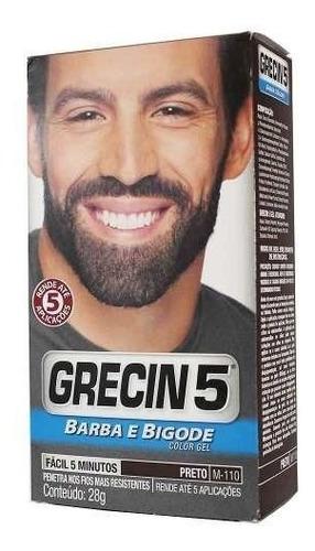 Grecin 5 Color Gel Barba Bigode Preto
